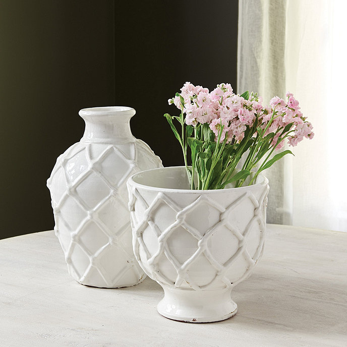 Luisa Ceramic Vases Ballard Designs