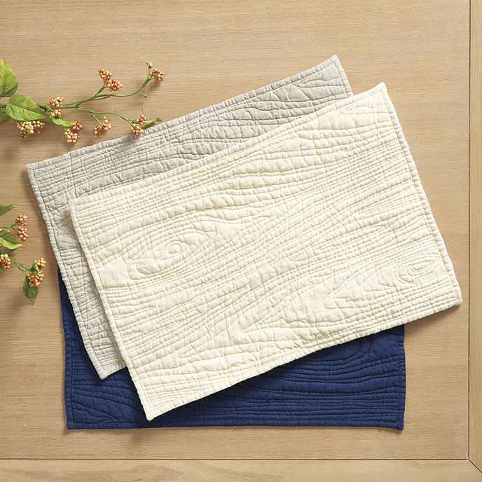 Faux Bois Quilted Placemats - Set of 4 | Ballard Designs : quilted placemats - Adamdwight.com