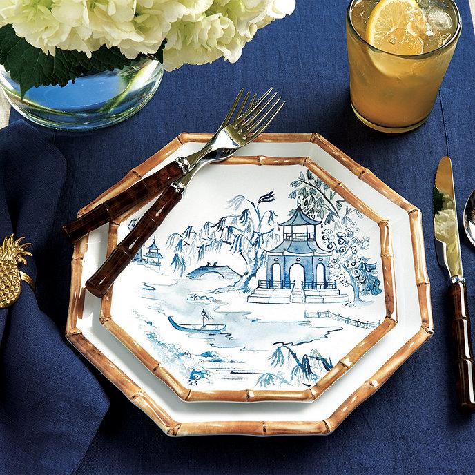 Bamboo Melamine Dinnerware | Ballard Designs