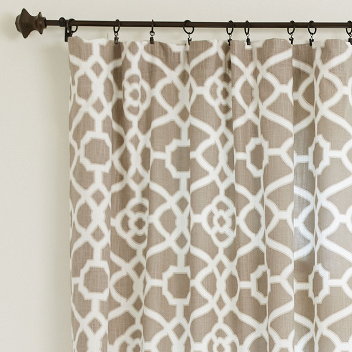 Check Window Panel With Valance And French Pleats