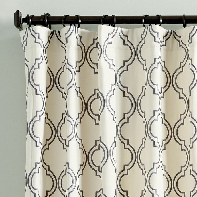 drapes cotton curtains two tree panel energy saving embroidered modern