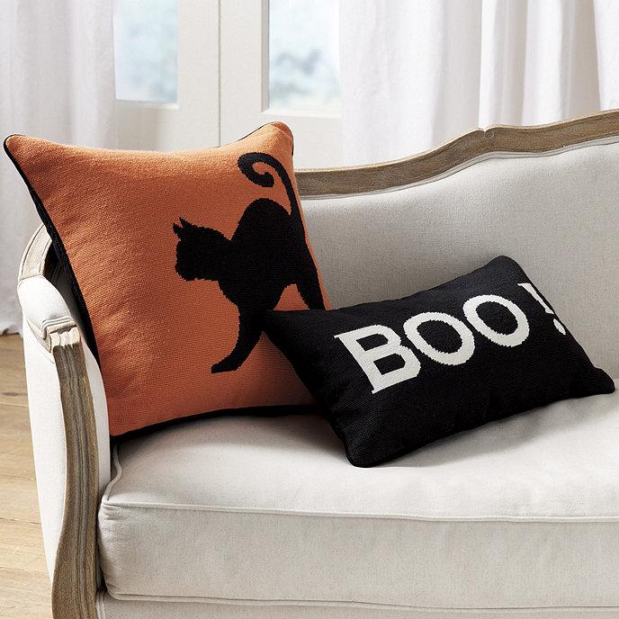 Halloween Needlepoint Pillow Ballard Designs