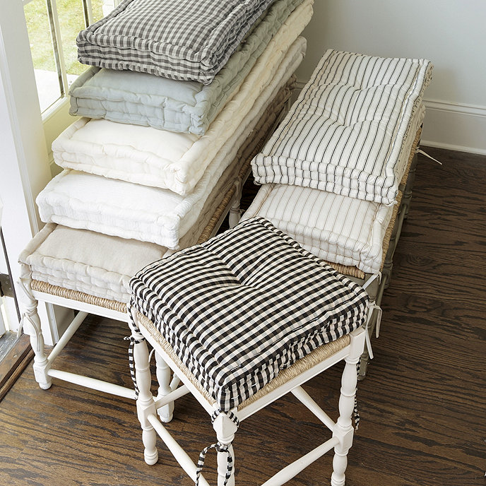 Farmhouse Stool Cushions Ballard Designs