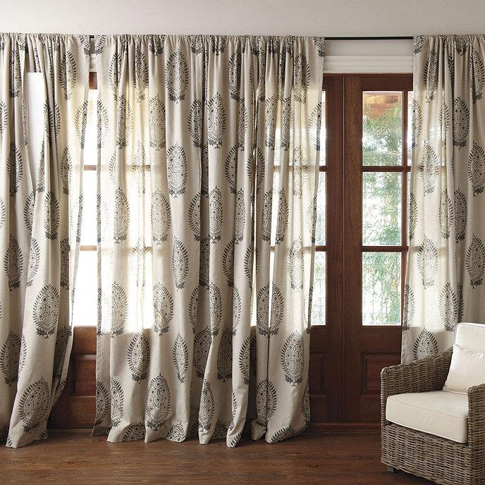 Anne Paisley Panel European Inspired Home Furnishings Ballard Designs