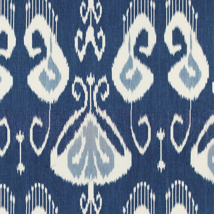 Top Toscana Ikat Blue Fabric By The Yard | European-Inspired Home  SP67