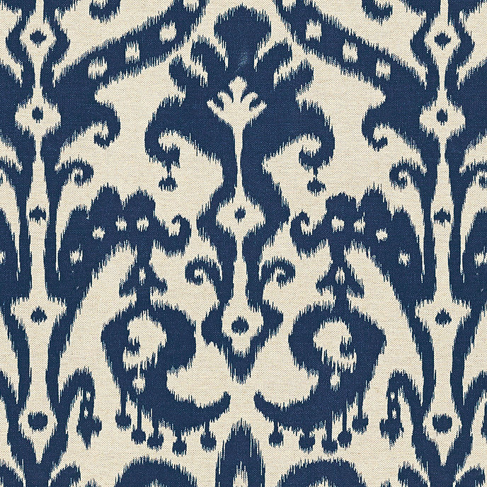 Venice ikat navy fabric by the yard ballard designs for Fabric by the yard near me