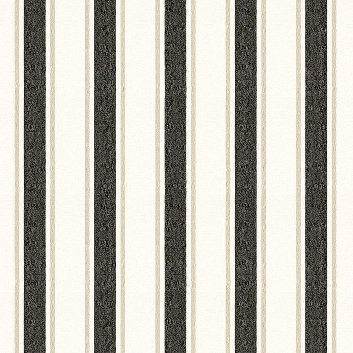 Suzanne Kasler Nantucket Stripe Black Sunbrella® Fabric by ...