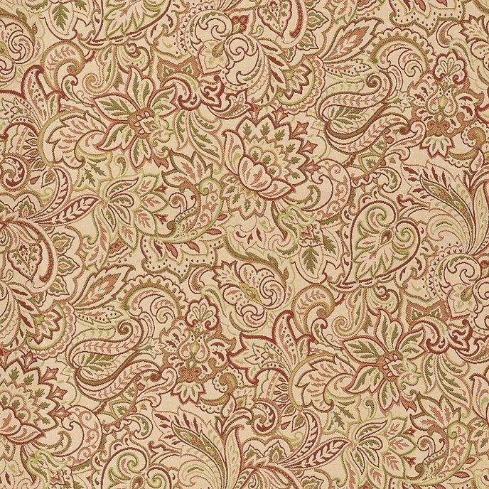 Tuscan Paisley Rust Sunbrella® Fabric by the Yard | Ballard Designs