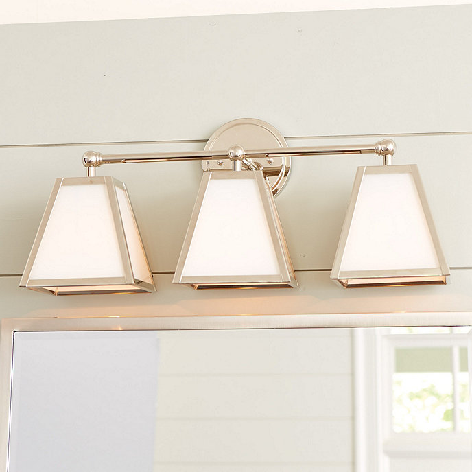 Amelie Vanity Triple Sconce Lighting | Ballard Designs