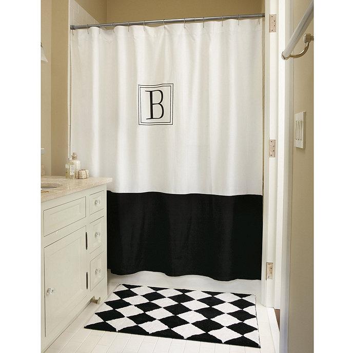 Monogrammed Classic Shower Curtain | Ballard Designs