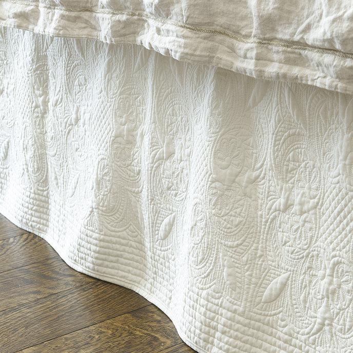 Marin Quilted Bedskirt | Ballard Designs : quilted bedskirts - Adamdwight.com