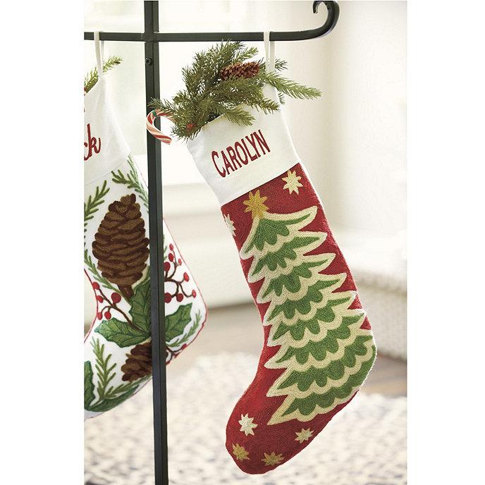 Christmas Tree Chain Stitch Stocking Share This Item Customer Photos BallardDesigns