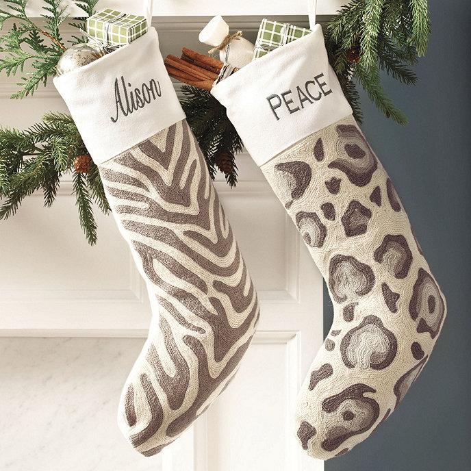 Leopard Zebra Stockings Share This Item Customer PhotosBallardDesigns
