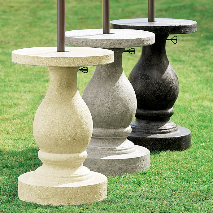 Patio Umbrella Stand Table: Baluster Umbrella Stand
