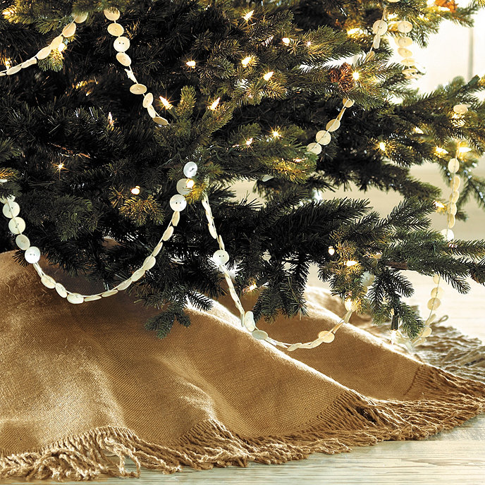 fringed burlap tree skirt 30 inch