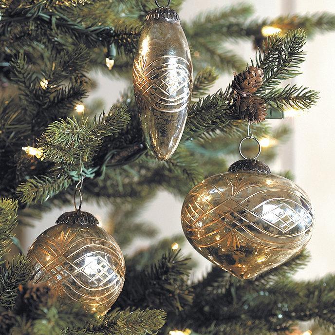 Mercury glass ornaments ballard designs