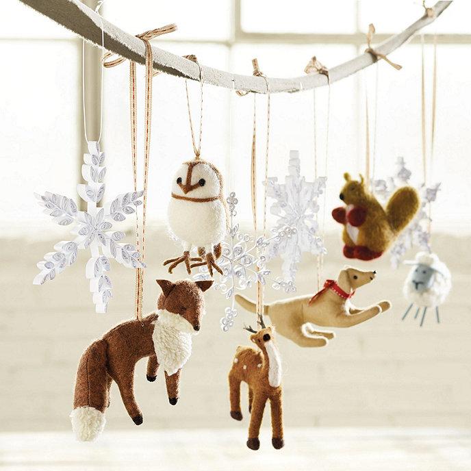 Bunny Williams Felt Animal Ornaments - Set of 6 | Ballard Designs