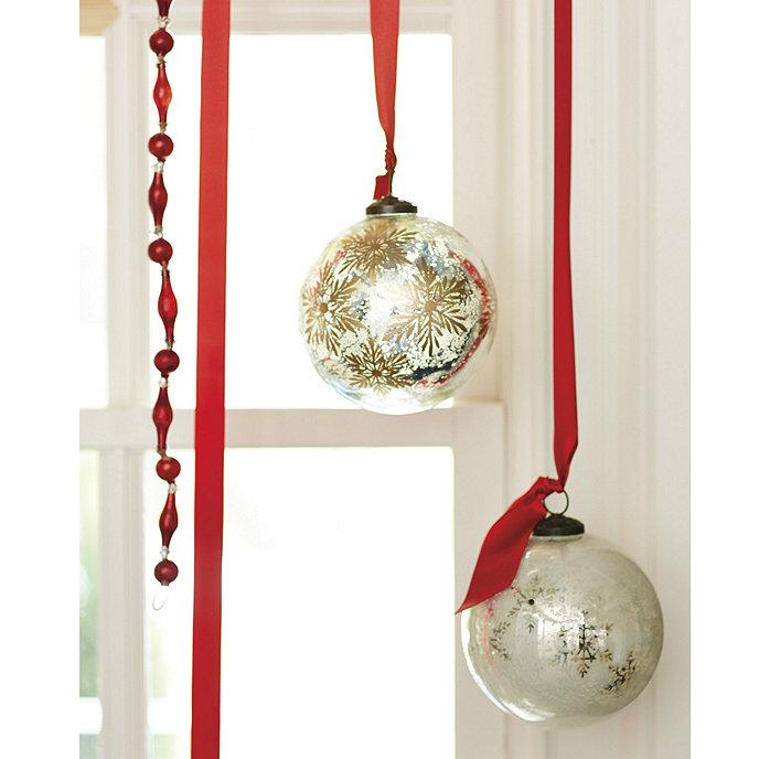 Suzanne Kasler Mercury Glass Snowflake Ornament | Ballard Designs