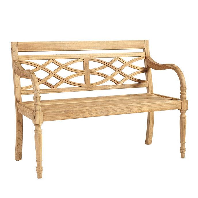 Ceylon Teak Garden Bench Ballard Designs - Teak garden furniture