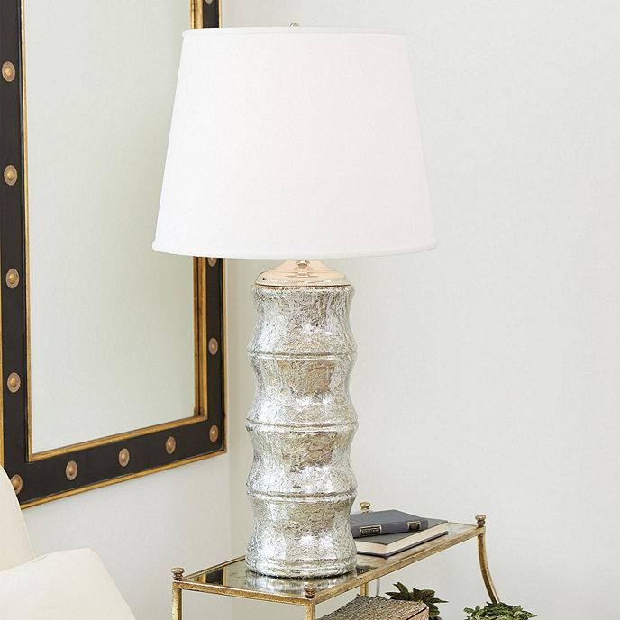 Bamboo mercury glass table lamp