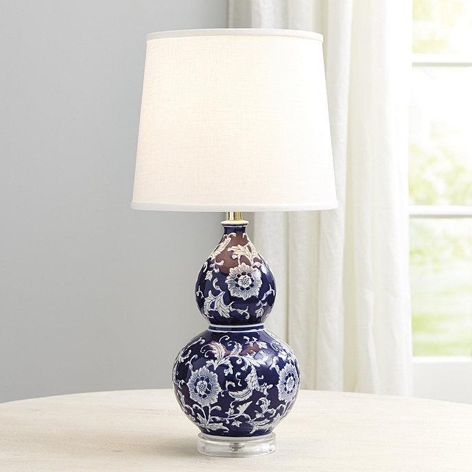 Blue white double gourd table lamp ballard designs blue white double gourd table lamp mozeypictures Images