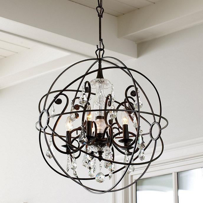 Crystal orb chandelier ballard designs orb crystal chandelier aloadofball Gallery