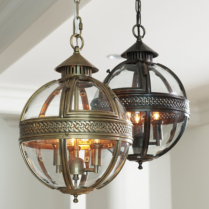 Ballards Lighting: Halden Glass Orb Pendant Light