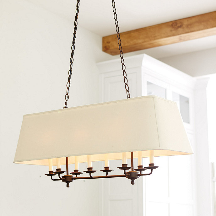 Rectangular Wrought Iron Chandelier Pictures Of Dining: Remington 8-Light Rectangle Chandelier