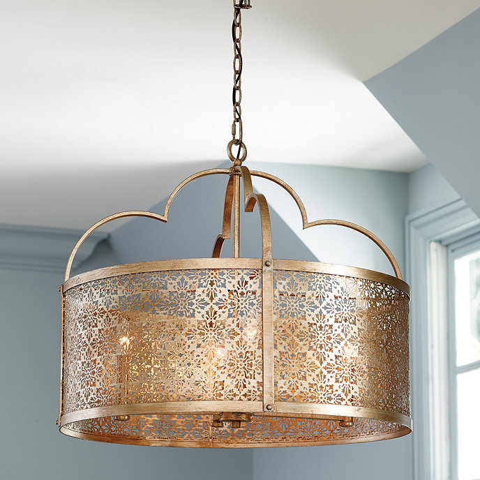 Ballards Lighting: Marbella 4-Light Drum Pendant
