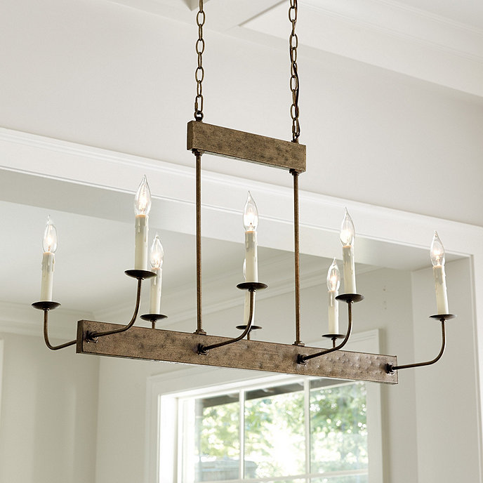 Linear 8-Light Chandelier