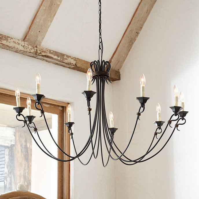 Luce 10-Light Chandelier | Ballard Designs