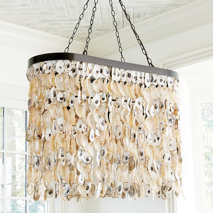 and product oyster glow lighting shell chandelier crystal oval seaside with by dreams