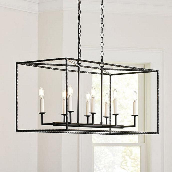 Hadley 8 light pendant rectangular