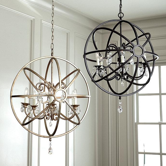 Nicolette crystal orb chandelier ballard designs nicolette crystal orb chandelier mozeypictures Choice Image