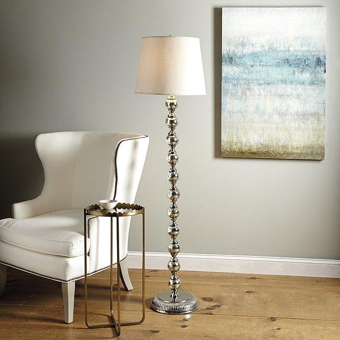 Mercury glass stacked ball floor lamp ballard designs mercury glass stacked ball floor lamp mozeypictures Gallery