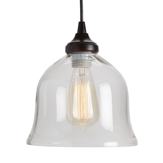 Hanging Can Lights: Can Light Adapter - Glass Bell Pendant