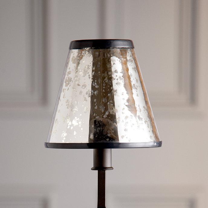 Mercury glass chandelier shade ballard designs mercury glass chandelier shade aloadofball Choice Image