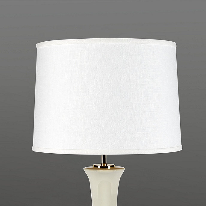The classic empire shape and timeless ivory color works with classic tapered linen lamp shade 18 aloadofball Gallery
