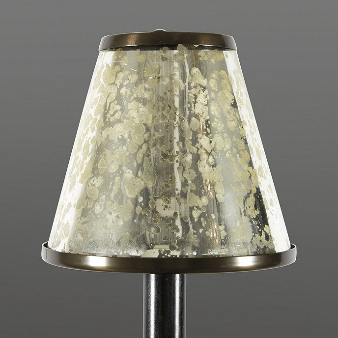 Mercury glass chandelier shade