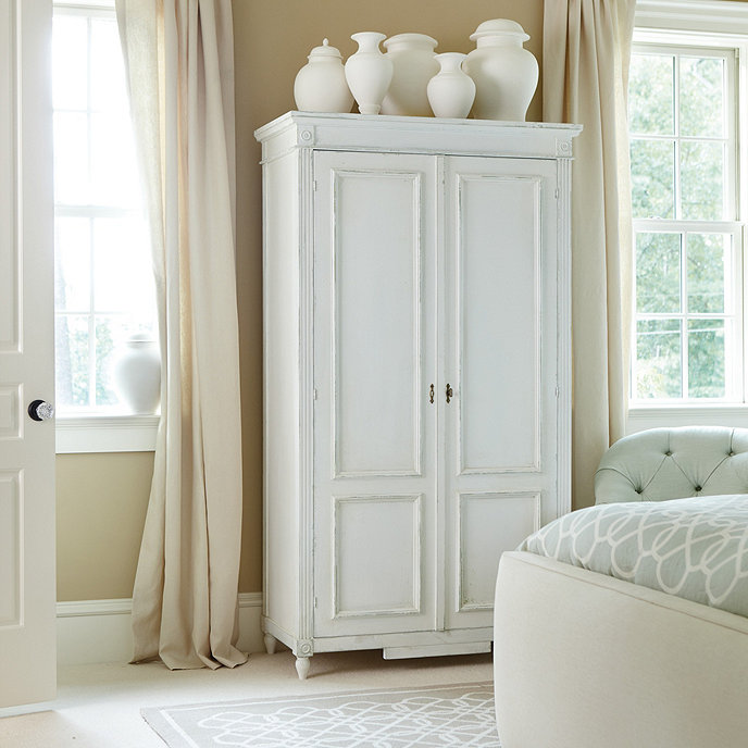 casa florentina louis xvi armoire stocked ballard designs. Black Bedroom Furniture Sets. Home Design Ideas