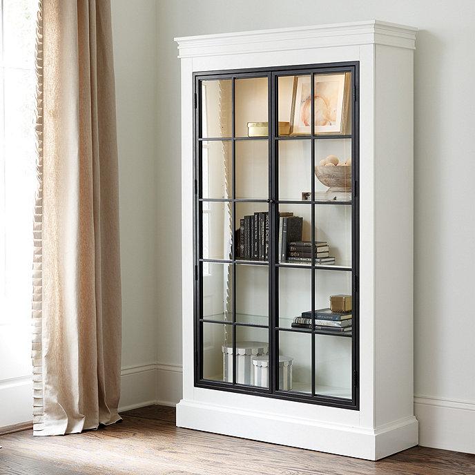 pulaski l cabinet htm maura in iron black display curio