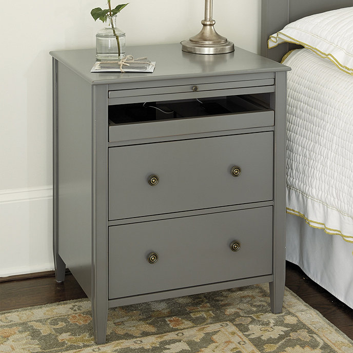 Sidney Side Table With Charging Station