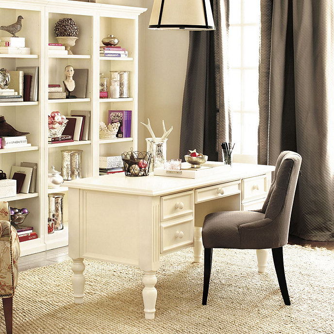 Home Desk Design Ideas: Home Office Ensemble 3-Drawer Desk