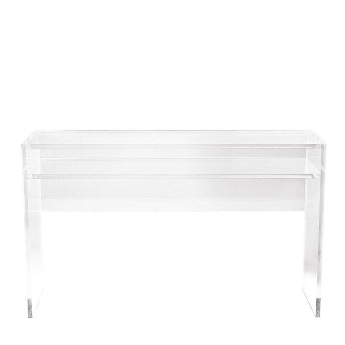 alissa acrylic console table ballard designs. Black Bedroom Furniture Sets. Home Design Ideas