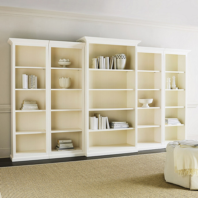 Set of 5 tuscan bookcases for Ballard home designs