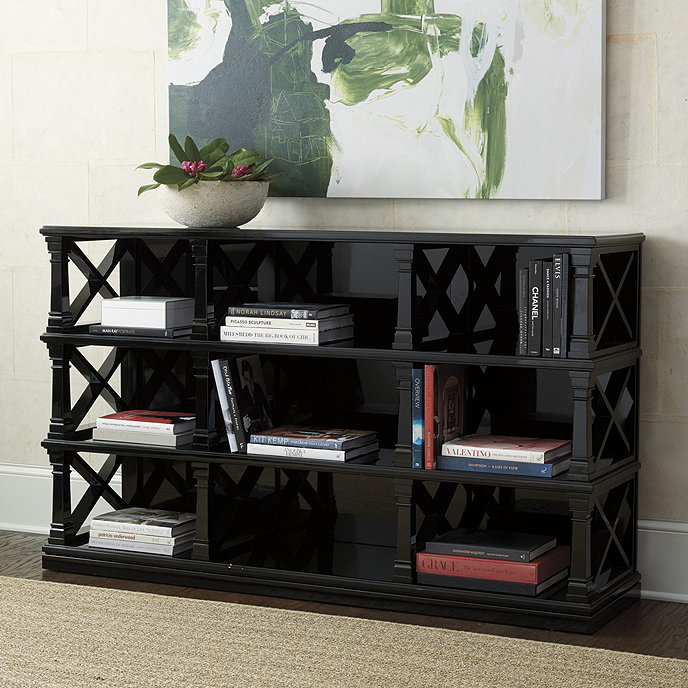 tiered polished ebony bookshelf htm miles x lacquer bookmark black turned redd