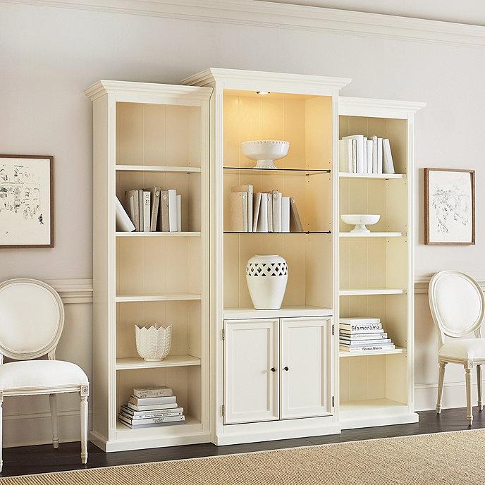Tuscan 3 Piece Bookcase with Cabinet | Ballard Designs