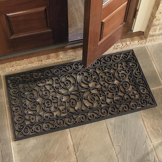 product beachy home footprints decor mat doormat in door the sand uncommongoods