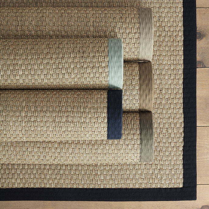 basketweave products marine seagrass rug light of blue shades