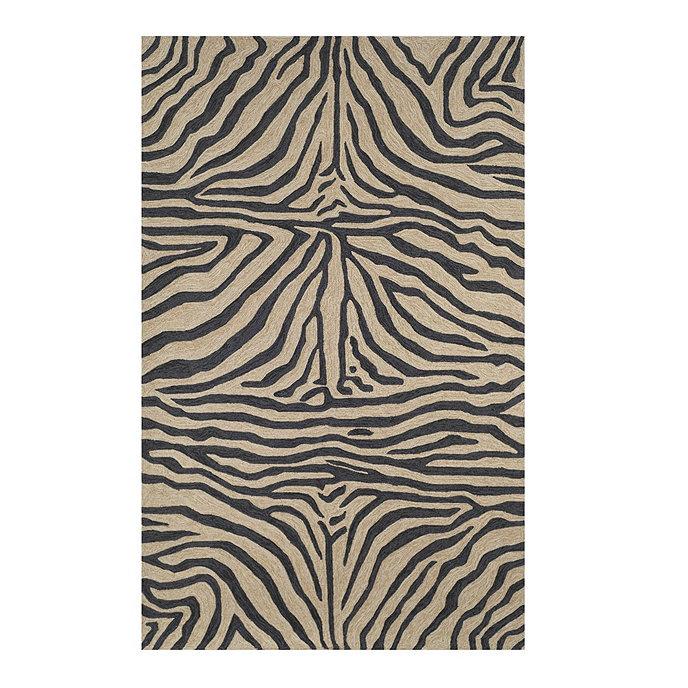 Mali zebra indoor outdoor rug